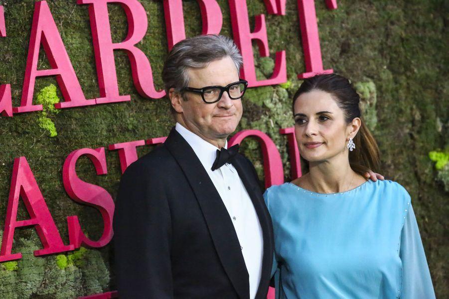 Livia et Colin Firth aux Green Fashion Awards à Milan, le 23 septembre 2018