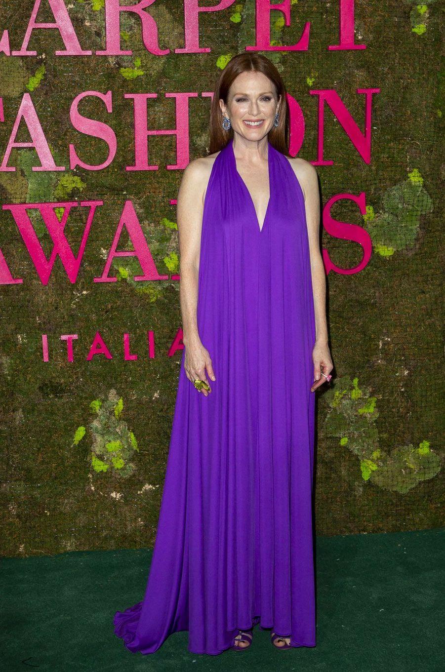 Julianne Moore aux Green Fashion Awards à Milan, le 23 septembre 2018