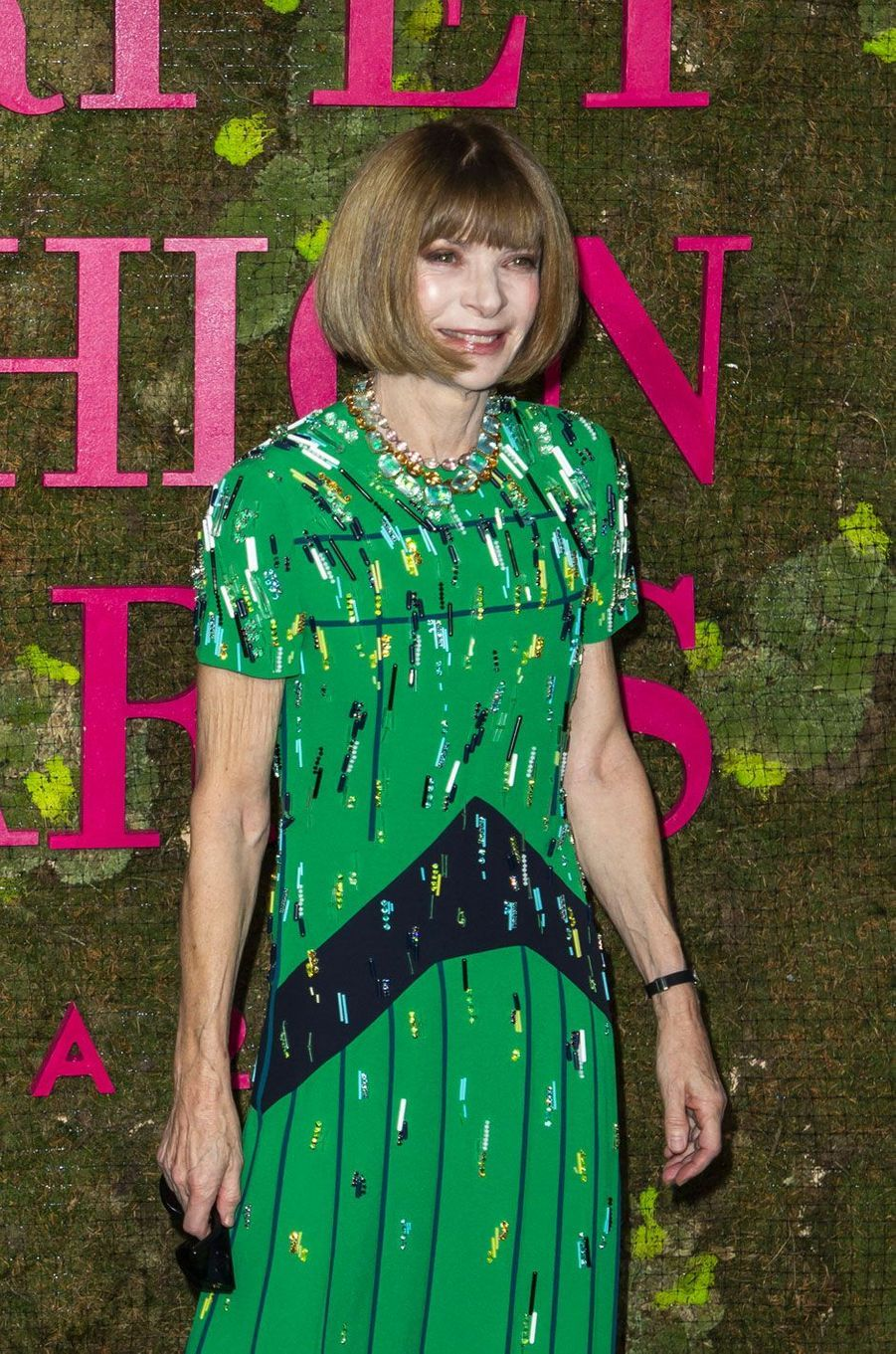Anna Wintour aux Green Fashion Awards à Milan, le 23 septembre 2018