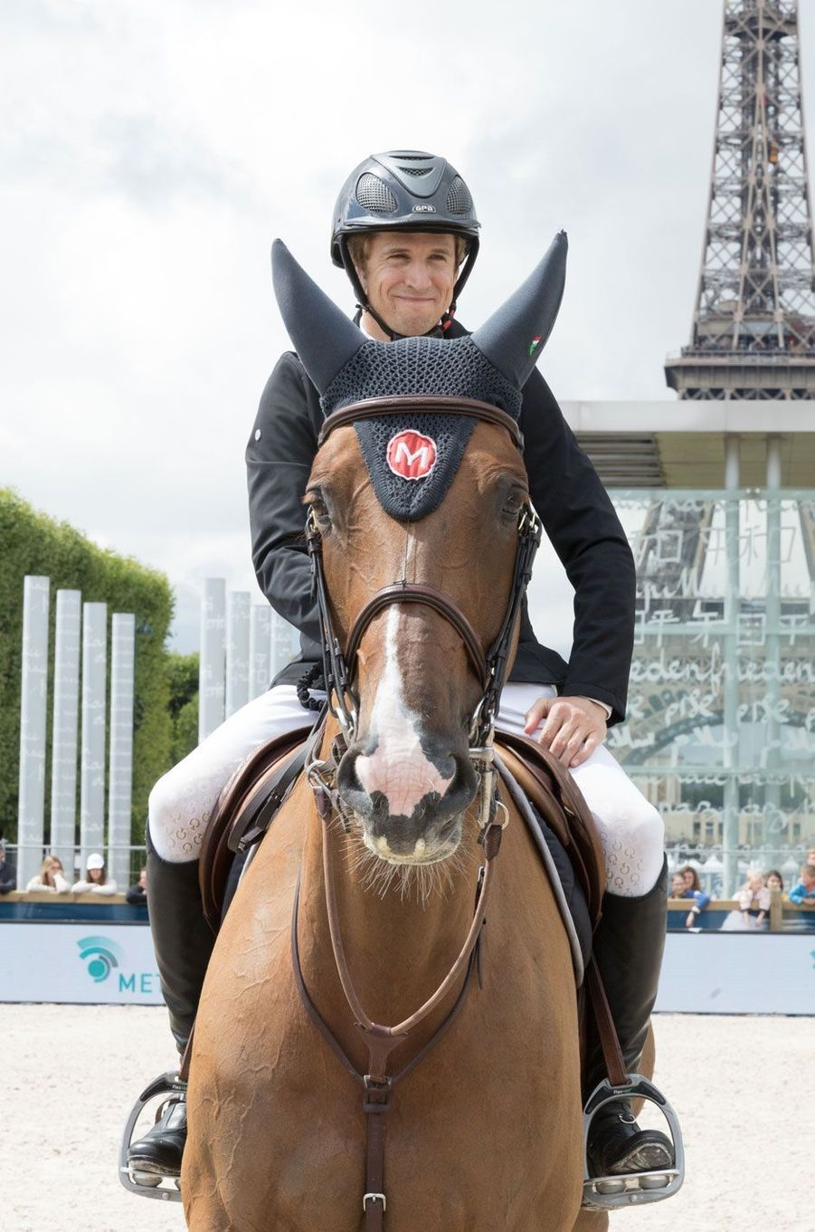 Guillaume Canet en forme au Longines Paris Eiffel Jumping