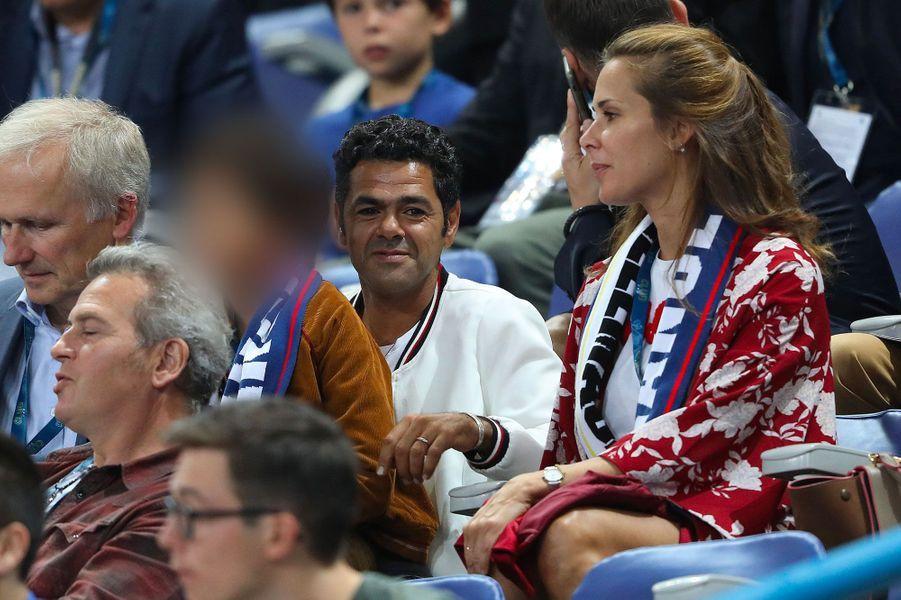 Jamel Debbouze et Melissa Theuriau avec leur fils