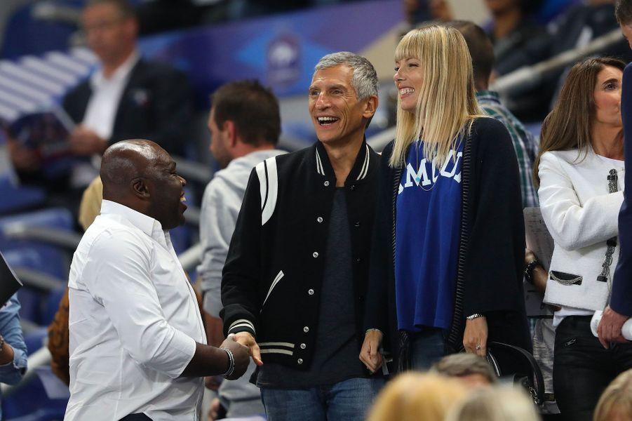 Nagui et sa femme avec le père de Kylian Mbappé