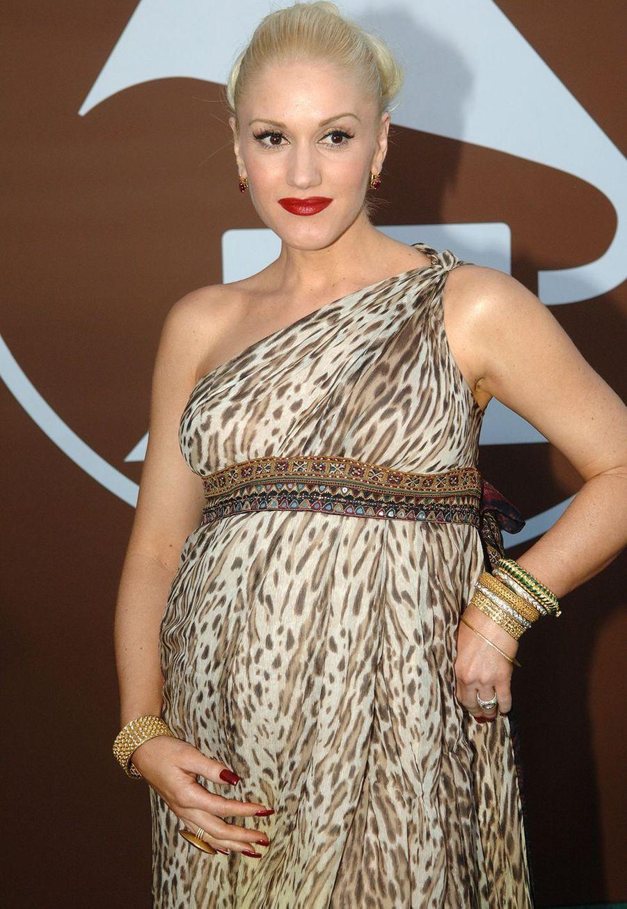 Gwen Stefani enceinte, auxGrammy Awards en 2006.