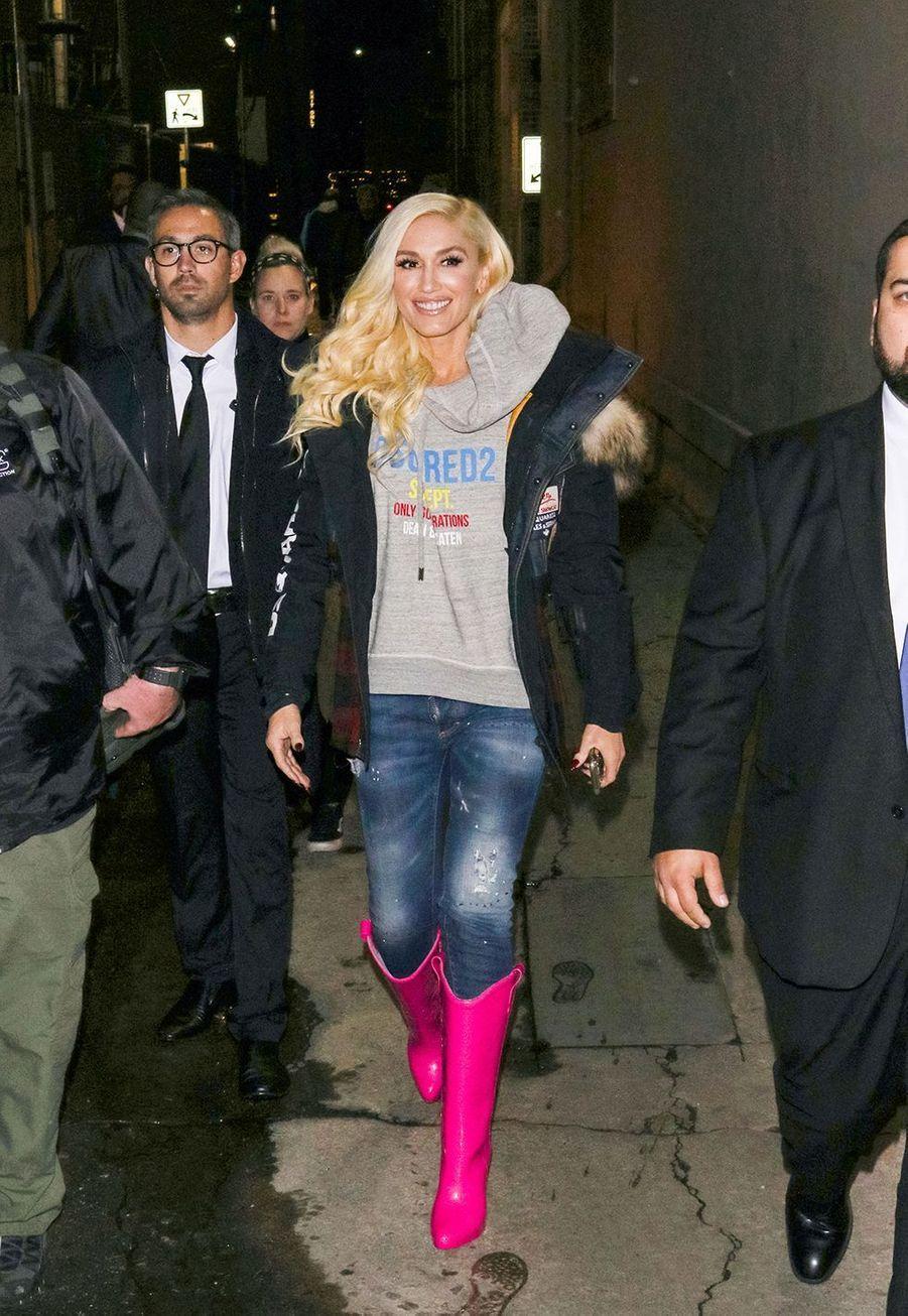 Gwen Stefani à la sortie du «Jimmy Kimmel Live» à Los Angeles en 2018.