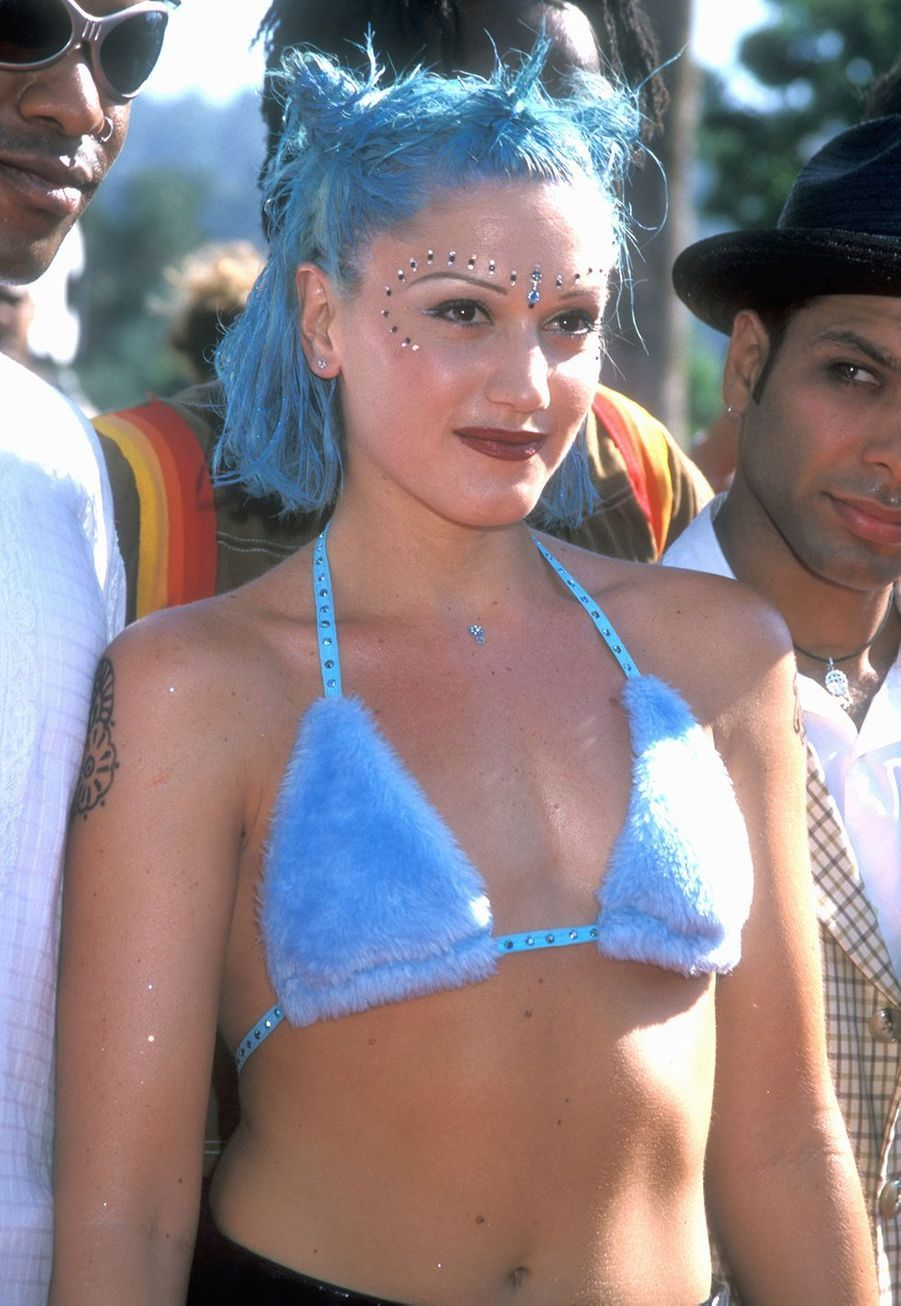 Gwen Stefani aux MTV Music Awards avec son groupe No Doubt, en 1998.