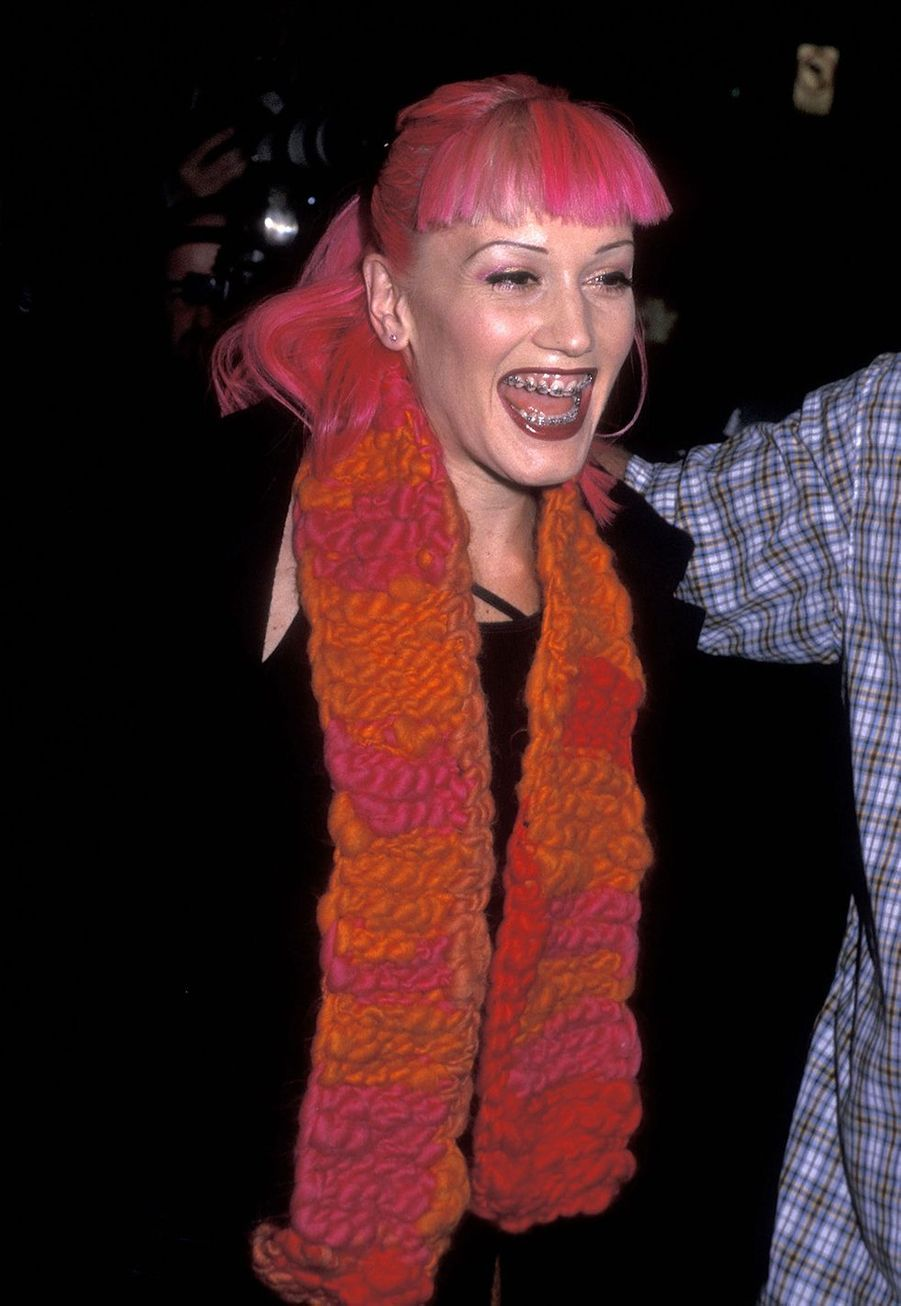 Gwen Stefani à l'ouverture de la boutique Christian Dior à New York en 1999.