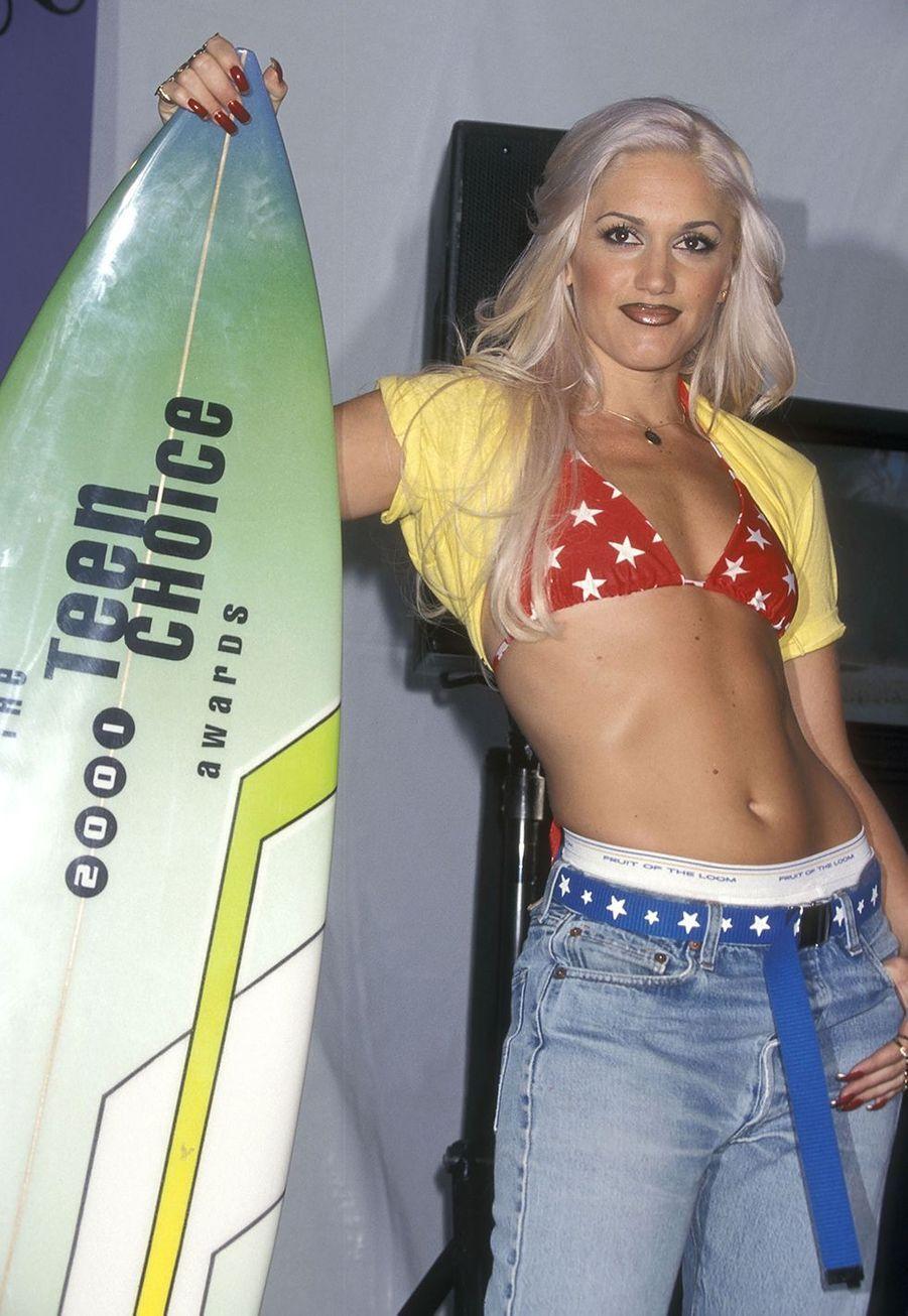 Gwen Stefani aux Teen Choice Awards, en Californie, en 2001.