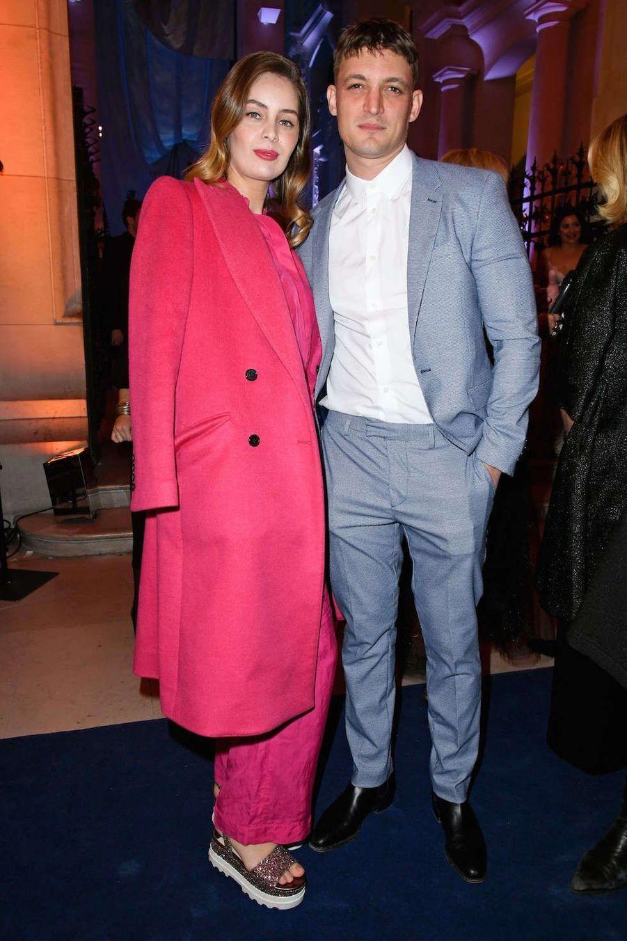 Marie-Ange Casta et Niels Schneider au vernissage de l'exposition Harper's Bazaar au Musée des Arts décoratifs, à Paris, le 26 février 2020.