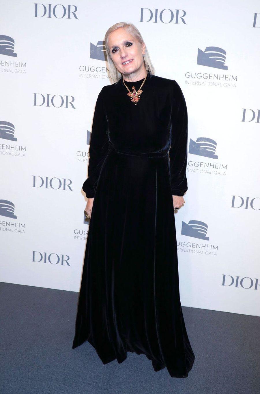 Maria Grazia Chiuri au «Guggenheim International Gala» à New York le 15 novembre 2018