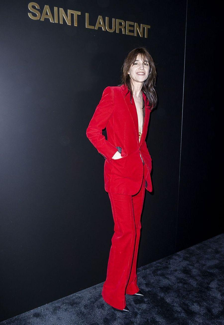 Charlotte Gainsbourgau défilé Saint Laurent à Paris le 25 février 2020
