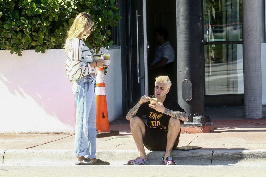 Hailey et Justin Bieber à Miami le 28 novembre 2019
