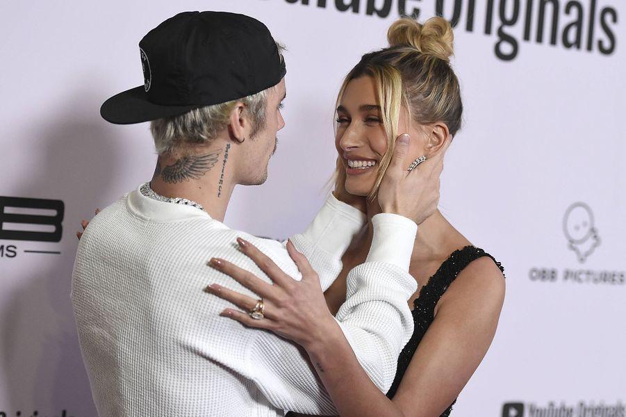 Justin et Hailey Bieber à l'avant-première du documentaire «Justin Bieber : Seasons» à Los Angeles le 27 janvier 2020