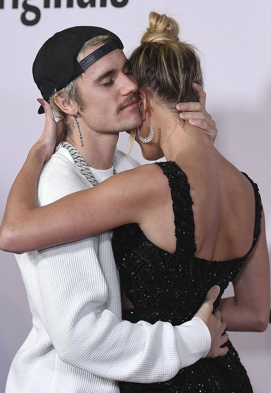 Justin et Hailey Bieberà l'avant-première du documentaire «Justin Bieber : Seasons» à Los Angeles le 27 janvier 2020