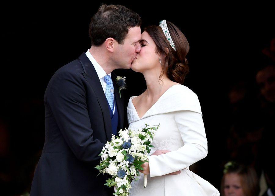 Princesse Eugénie et Jack Brooksbank: Le 12 octobre, le couple s'est marié à la Chapelle Saint George (où avait eu lieu quelques mois plus tôt, le mariage de Meghan et Harry)