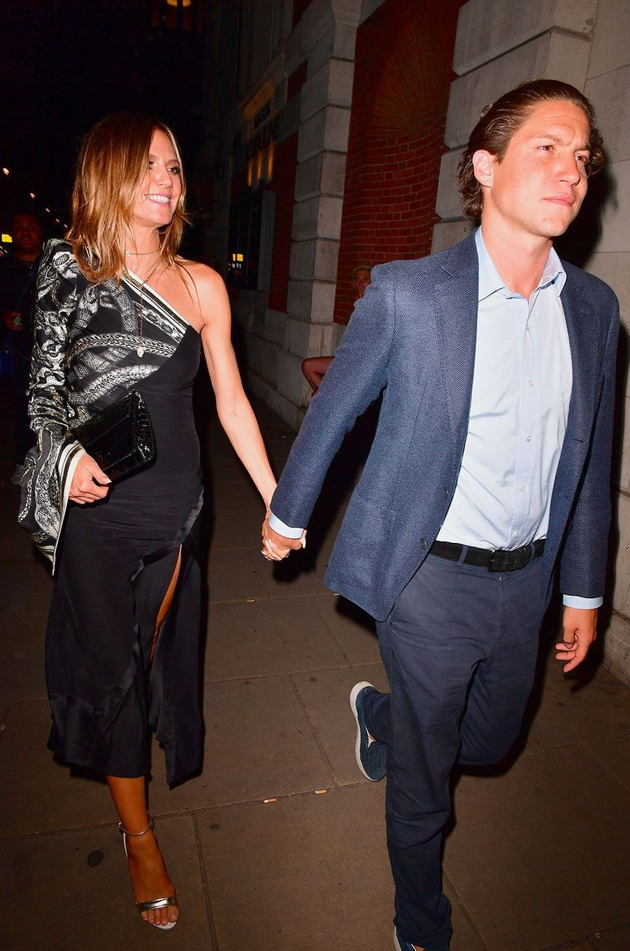 Heidi Klum et Vito Schnabel à Londres en mai 2017