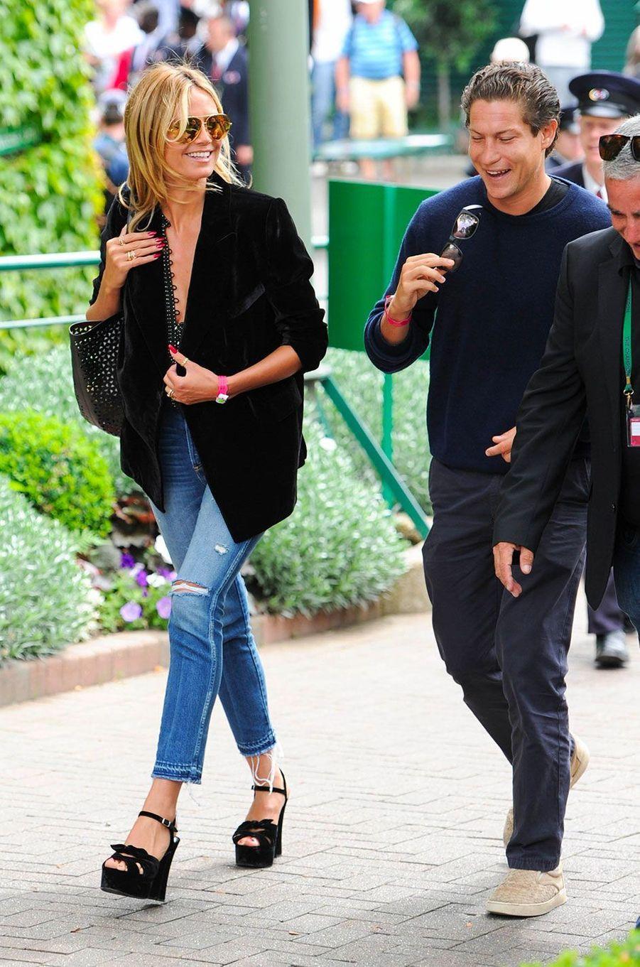 Heidi Klum et Vito Schnabel à Londres en juillet 2016