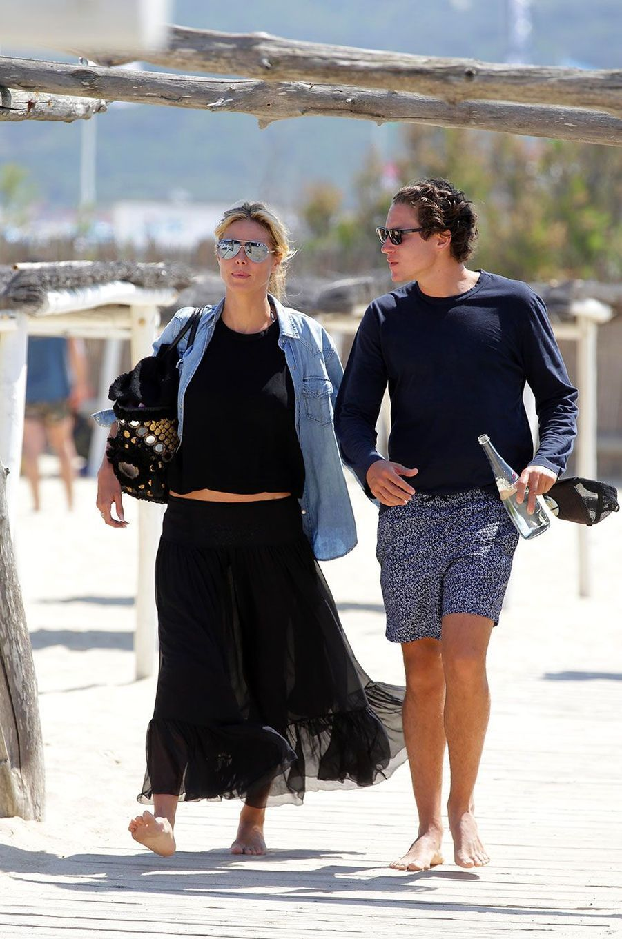 Heidi Klum et Vito Schnabel à Saint-Tropez en mai 2016