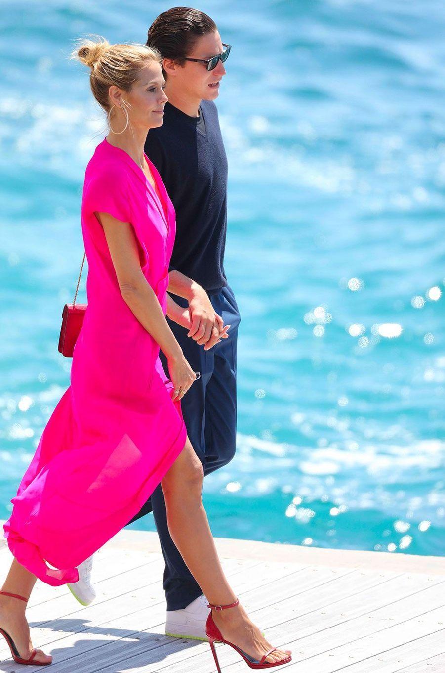 Heidi Klum et Vito Schnabel à Cannes en mai 2016