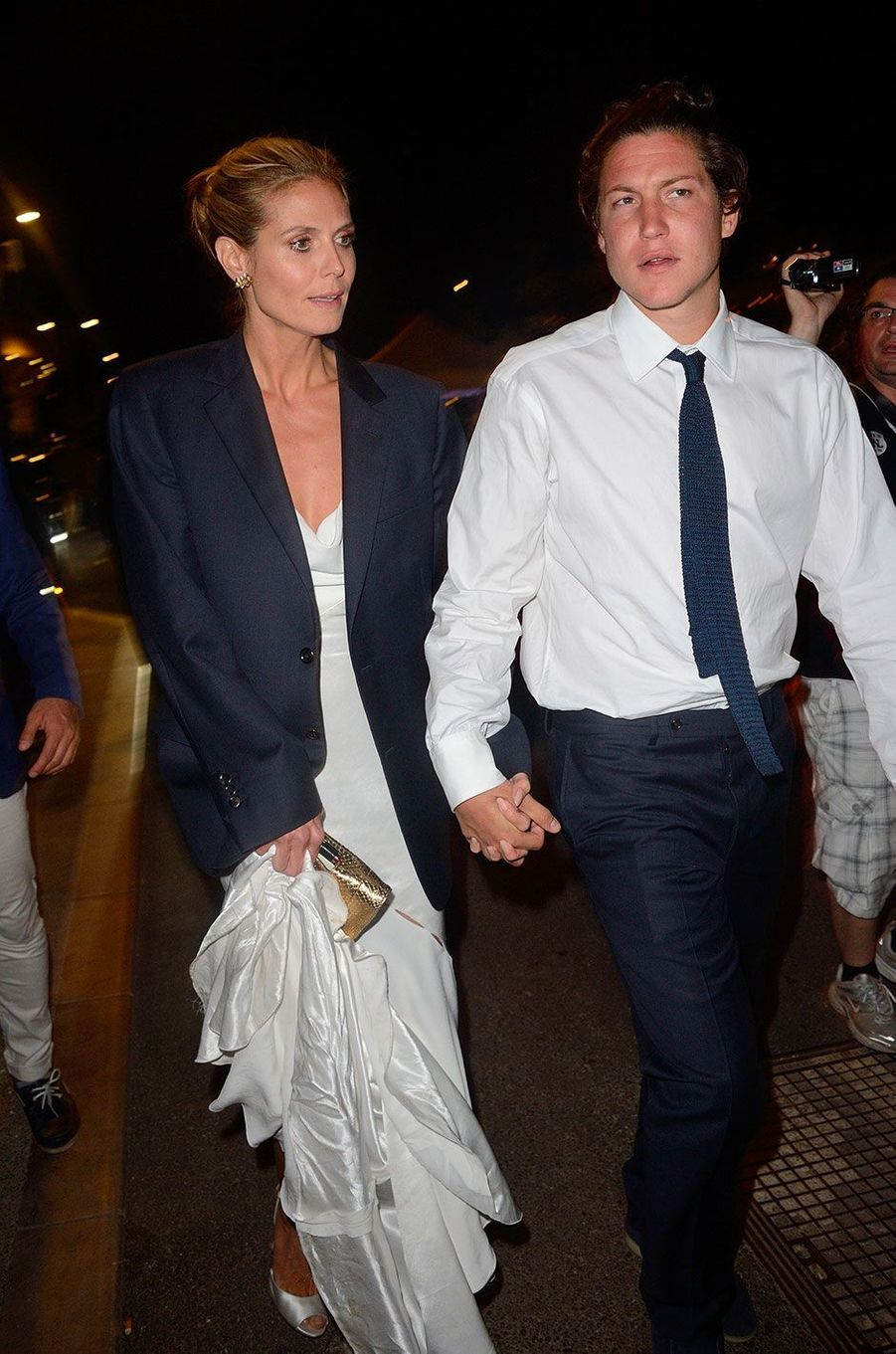 Heidi Klum et Vito Schnabel à Cannes en mai 2014