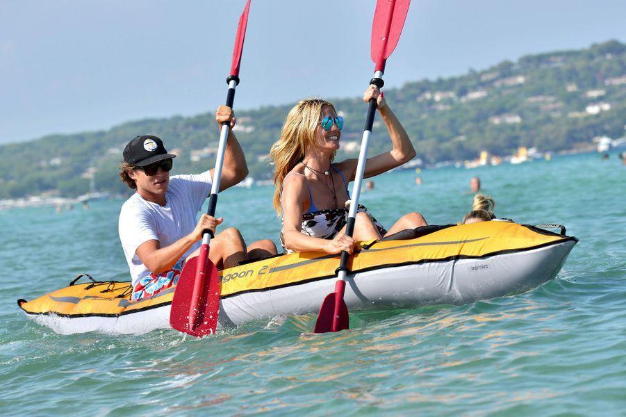 Heidi Klum et Vito Schnabel à Saint-Tropez en juillet 2015