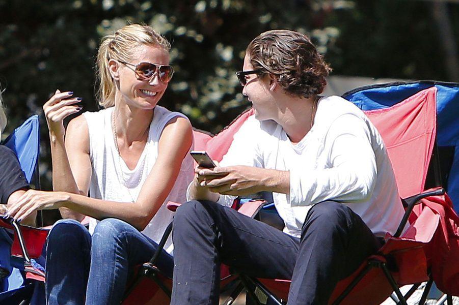 Heidi Klum et Vito Schnabel à Los Angeles en septembre 2014