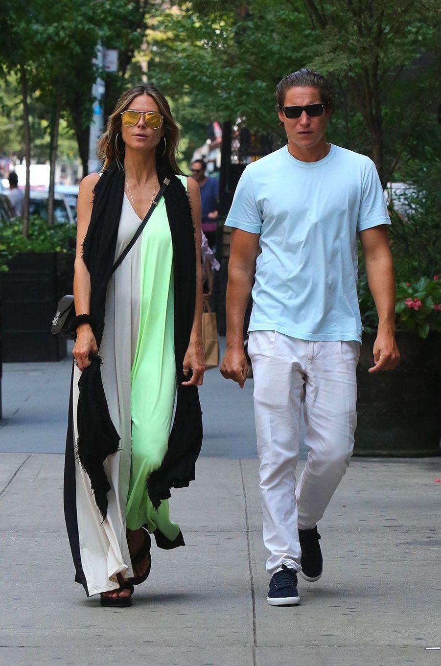 Heidi Klum et Vito Schnabel à New York en août 2017