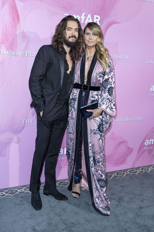 Heidi Klum et son fiancé Tom Kaulitz à Paris, le 30 juin 2019