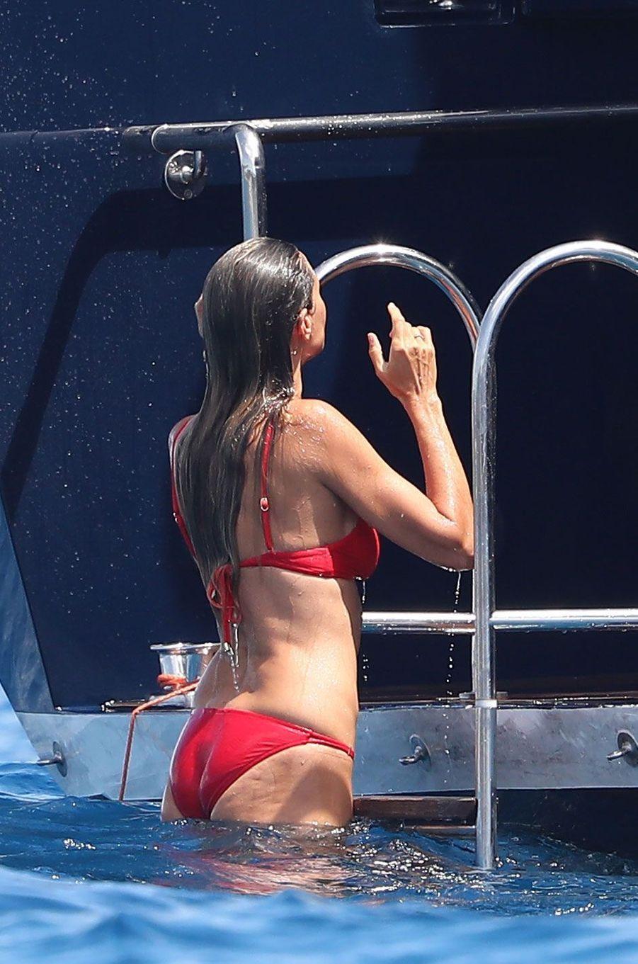 Heidi Klum à Saint-Tropez