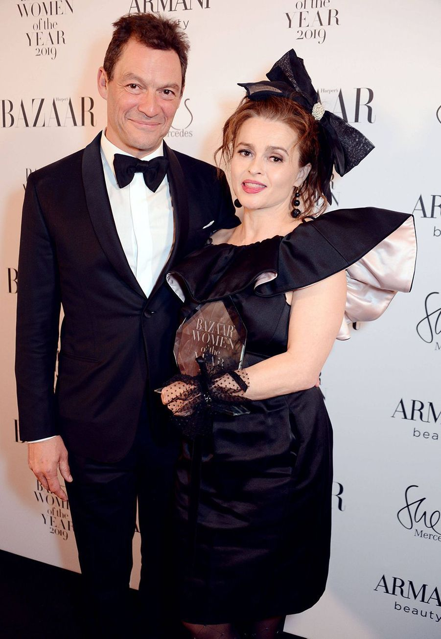 Helena Bonham Carter et Dominic West à la soirée Harper's Bazaar Women of the Year Awards à Londres le 29 octobre 2019