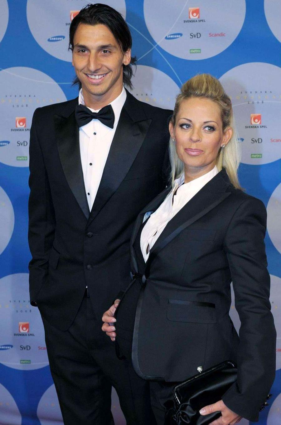 Zlatan Ibrahimovic et Helena Seger le 14 janvier 2008