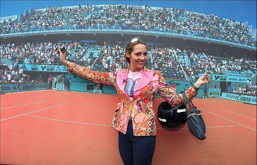Hermine de Clermont-Tonnerre au tournoi de Roland-Garros.