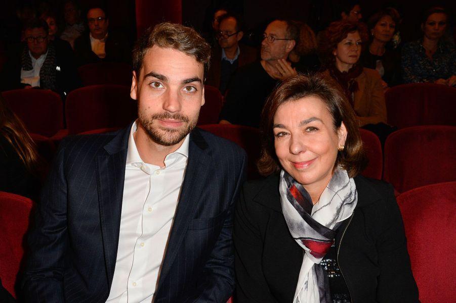 Valentin, le fils d'Yves Montand, et sa mère Carole Amiel