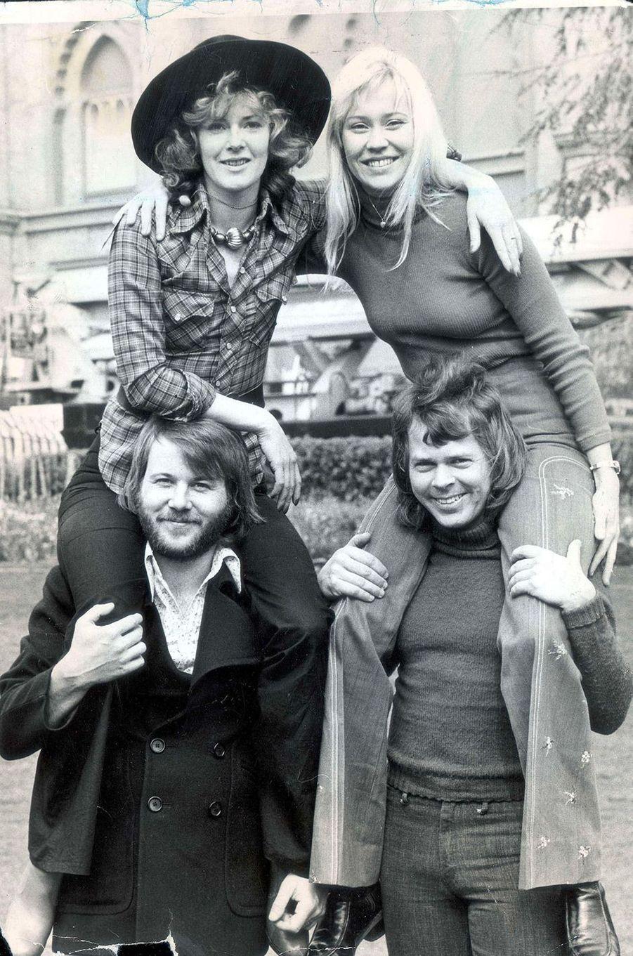 Le groupe ABBA en 1974
