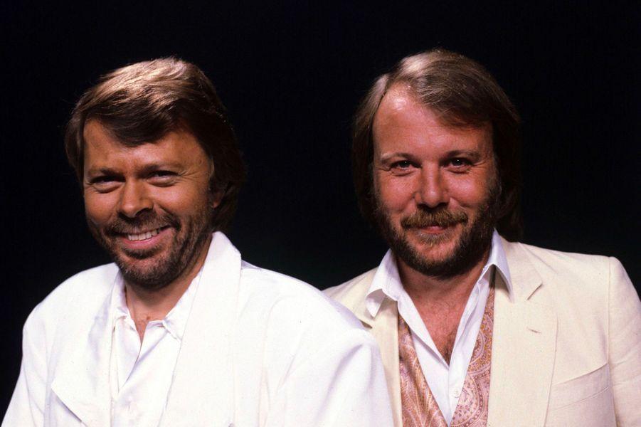 Benny AnderssonetBjörn Ulvaeus en 1985