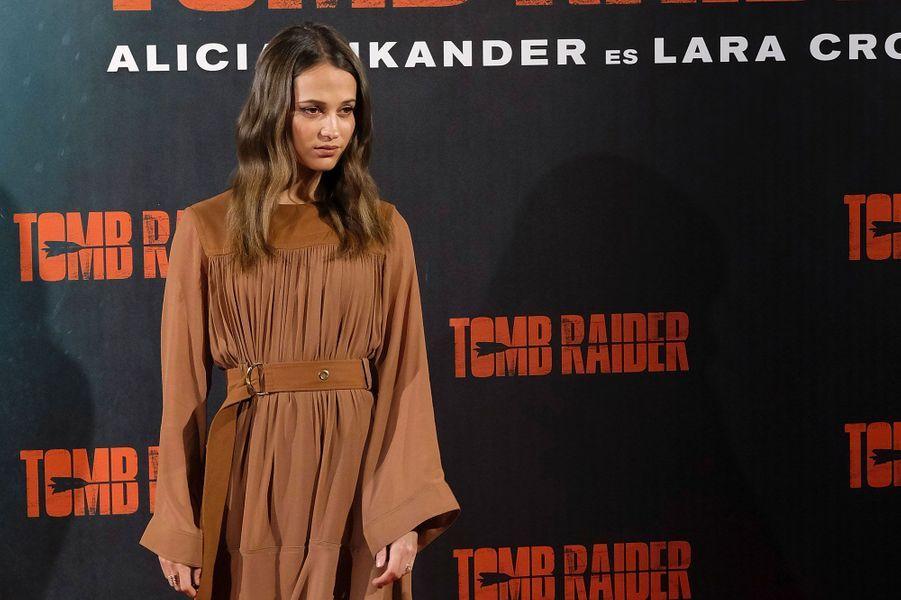 Alicia Vikander en février 2018