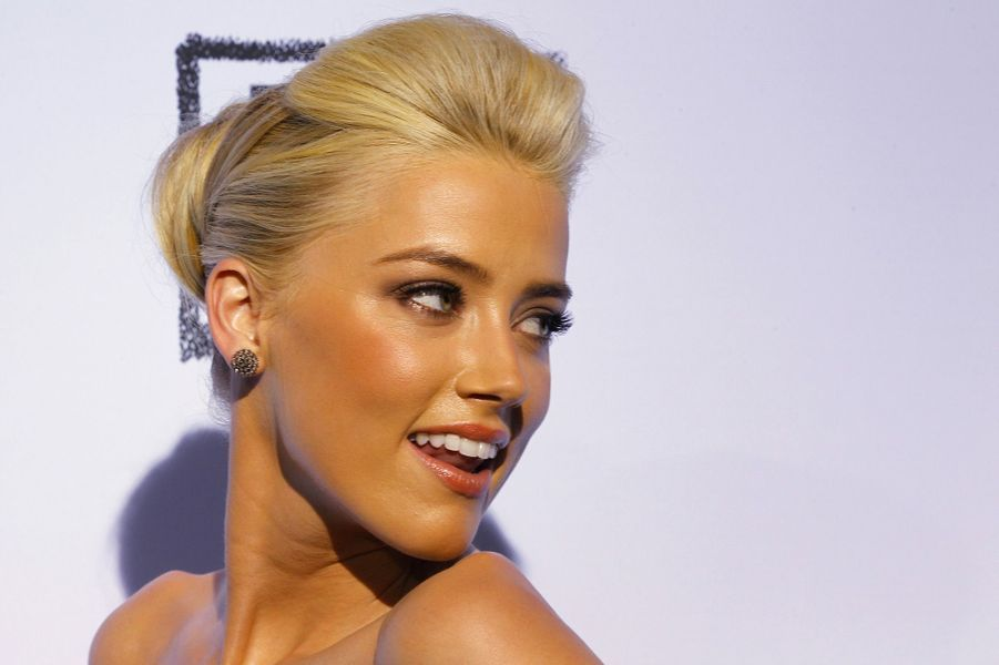 Amber Heard le 14 octobre 2011