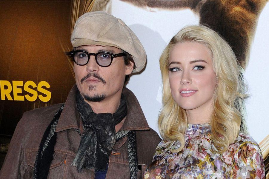 Amber Heard avec Johnny Depp le 8 novembre 2011