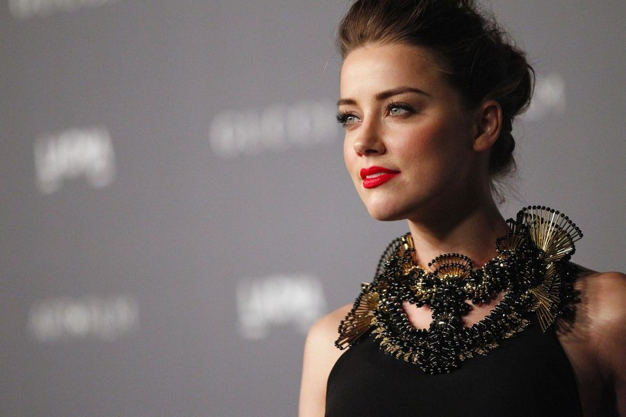 Amber Heard le 28 octobre 2012