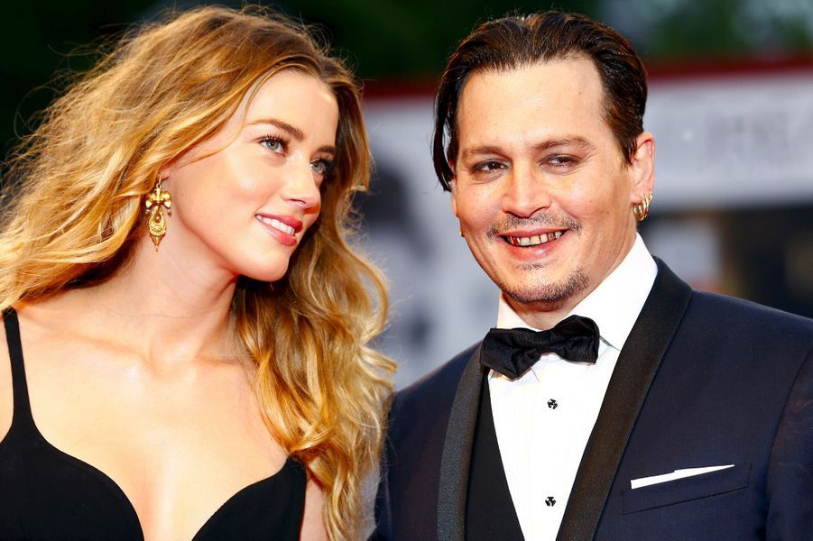 Amber Heard avec Johnny Depp le 4 septembre 2015