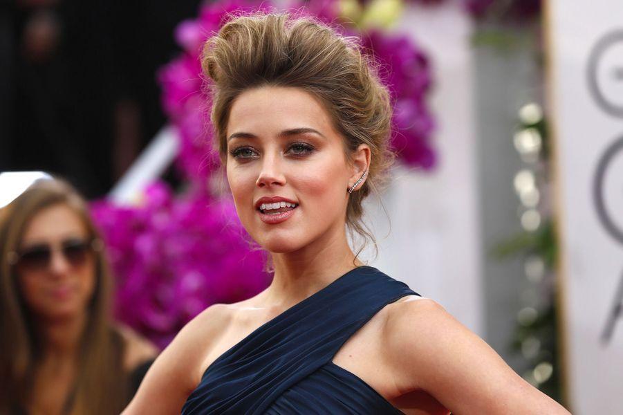 Amber Heard le 12 janvier 2014