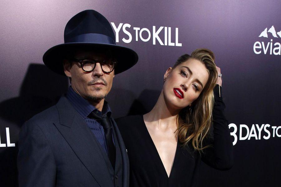 Amber Heard, avec Johnny Depp le 13 février 2014