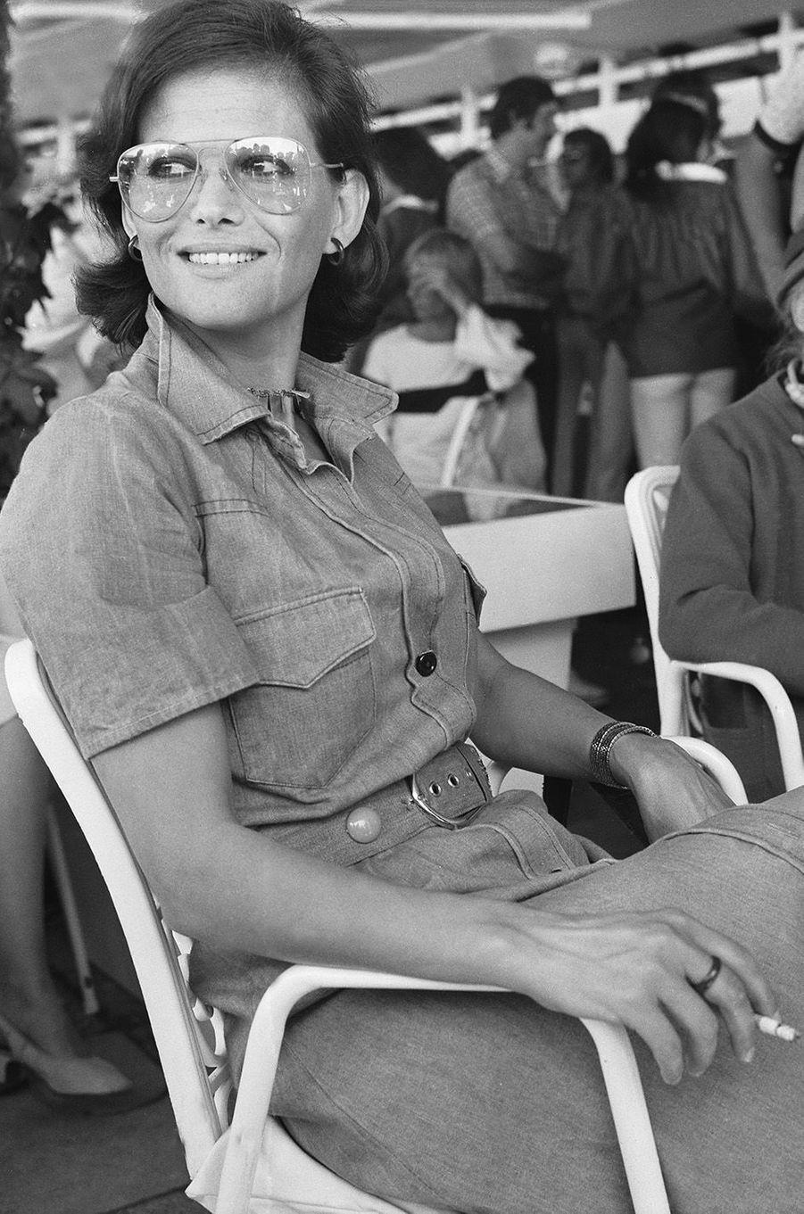 Claudia Cardinale au festival de Cannes en 1976.