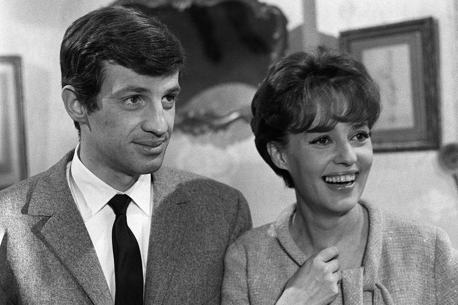 Jean-Paul Belmondo avec Jeanne Moreau en 1963