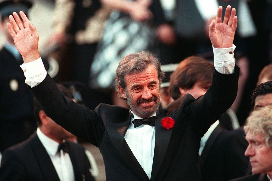 Jean-Paul Belmondo à Cannes en 1988