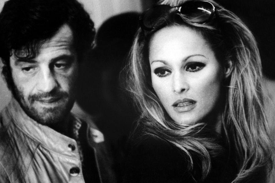 Jean-Paul Belmondo avec Ursula Andress en 1970