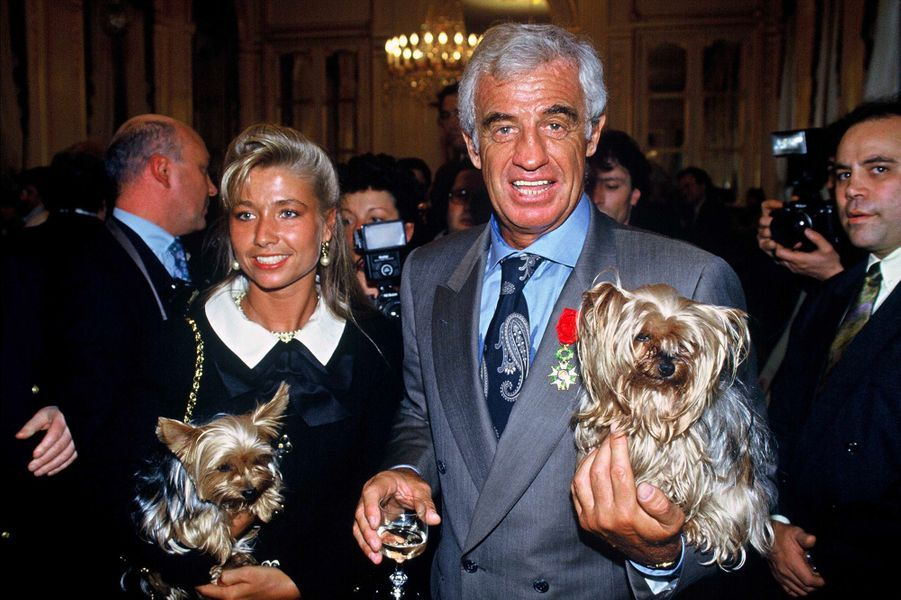 Jean-Paul Belmondo avec sa deuxième épouse Natty en 1991
