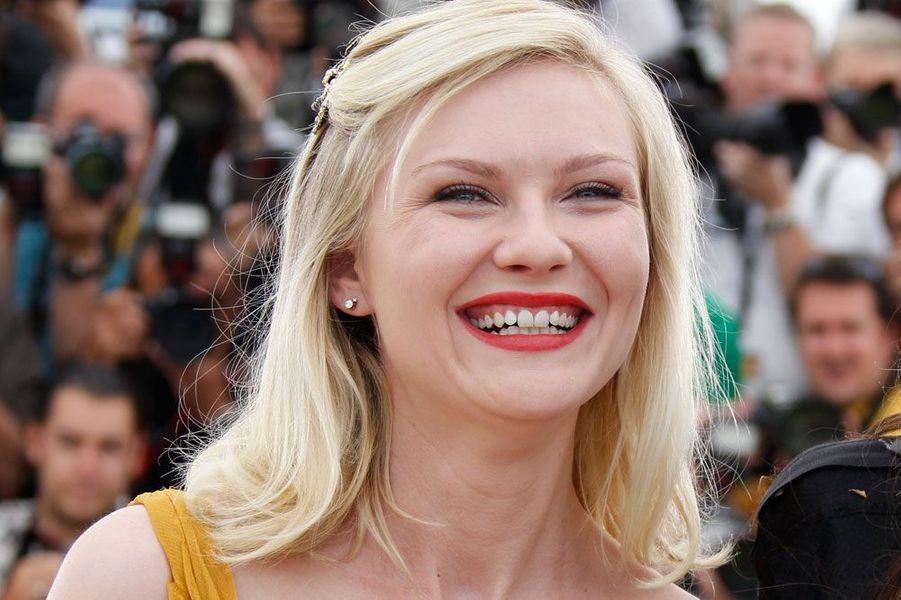 """Kirsten Dunst en 2011 au Festival de Cannes pour présenter """"Melancholia"""""""