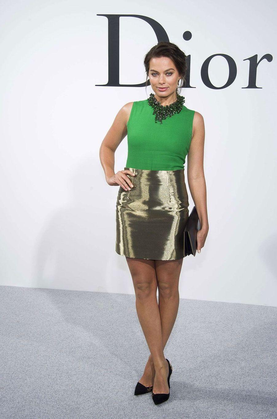 Margot Robbie au défilé Dior en 2014