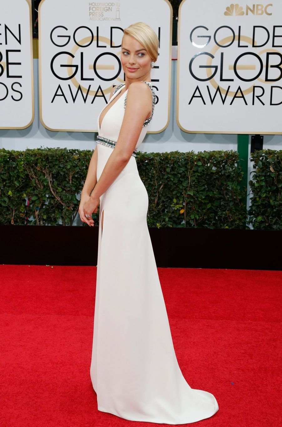 Margot Robbie aux Golden Globes en 2014