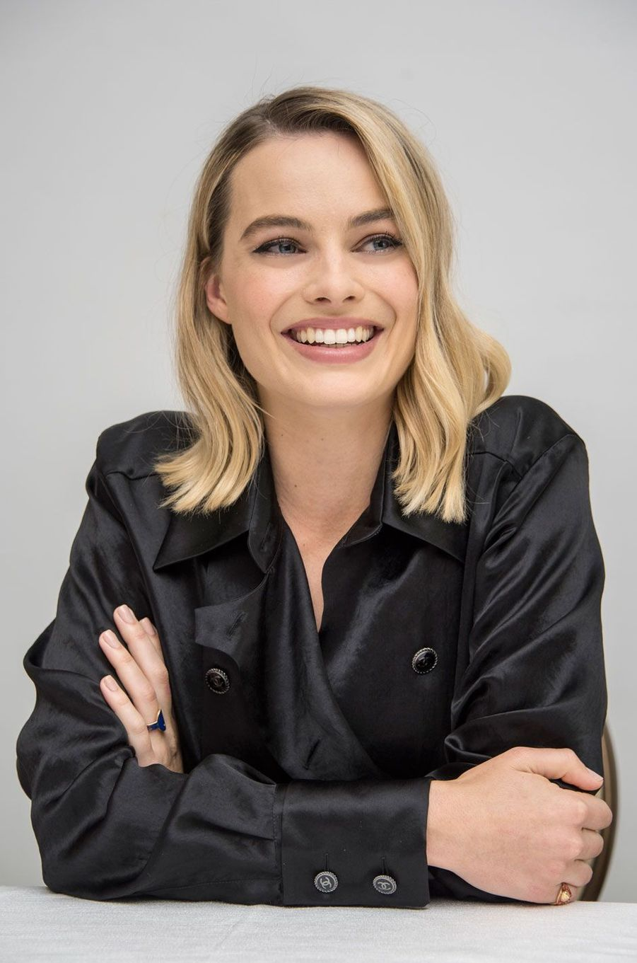 Margot Robbie en conference presse pour I Toniya